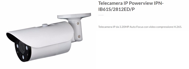 Telecamera-IP-Powerview-IPN-IB61S2812EDP