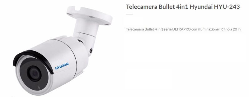 telecamera bullet HYU-243